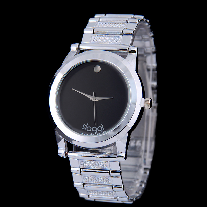 UNISEX Style Simple Design Silver Metal Business WATCH