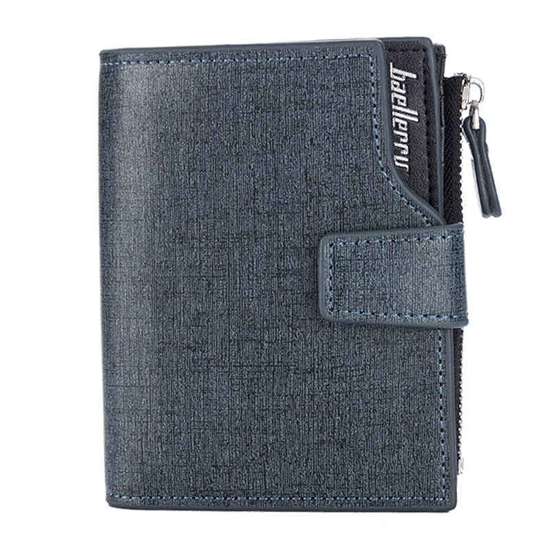 NEW Design Men's Trendy Style Creative Color PU Leather Short Wallet With Zipper