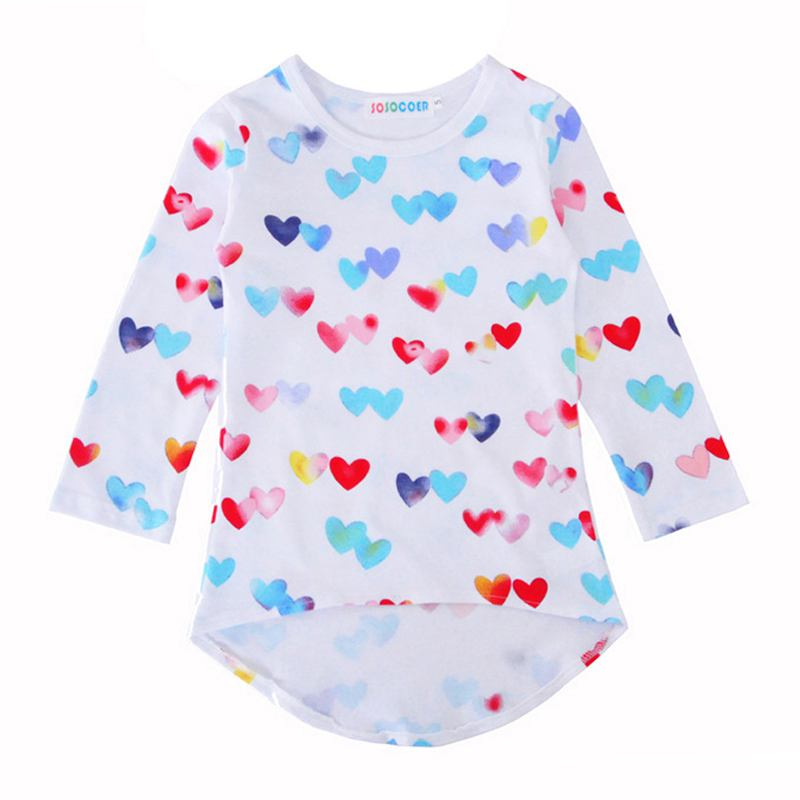 Girls Multicolor Heart Printed Long Sleeves DRESS