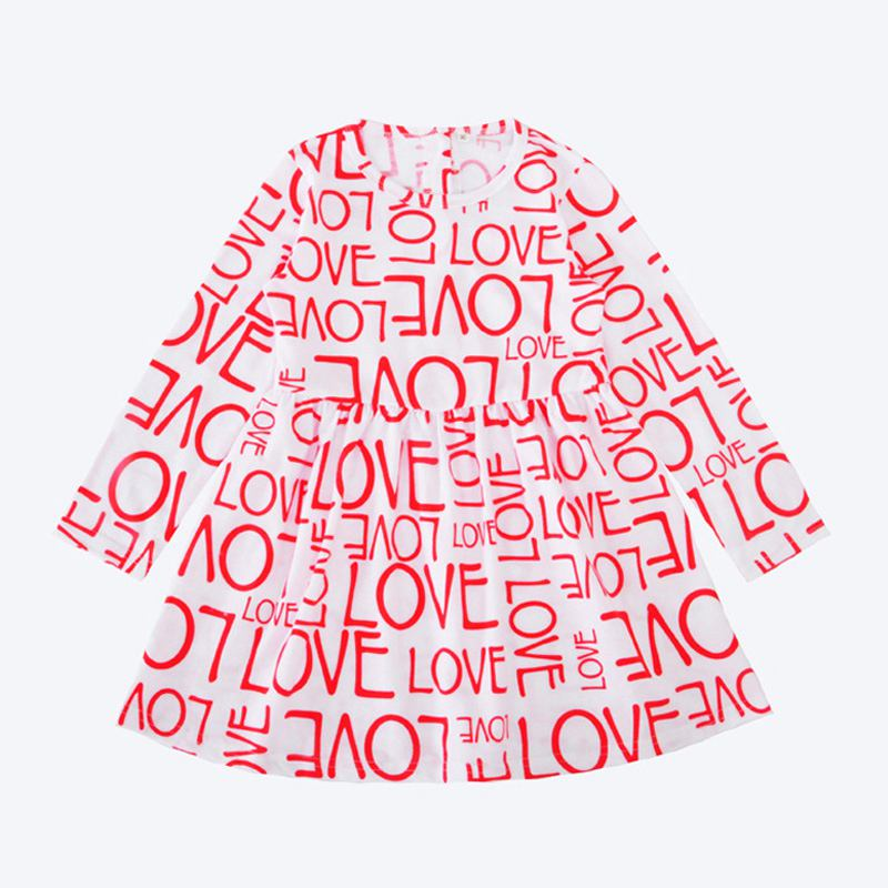 ''Girls ''''LOVE'''' Letter Printed Long Sleeves DRESS''
