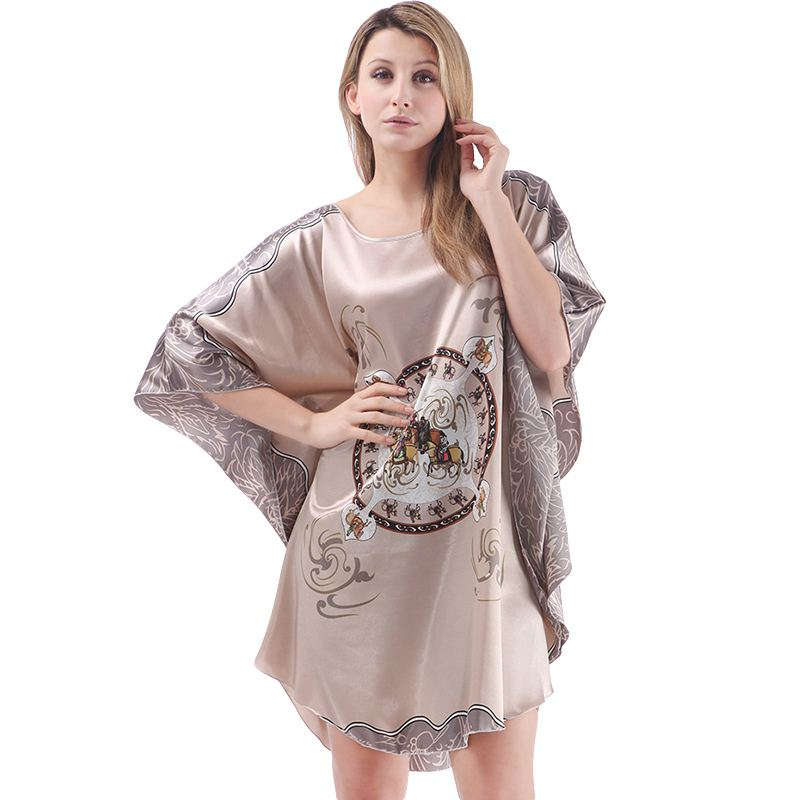 Women Comfortable Home Wear Fashion Printed Silk PAJAMAS