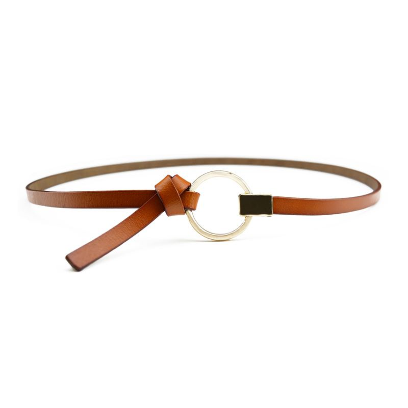 Sweet Young Girl Fashion Accessory Skinny Good Quality Leather Unique Knot Belt For DRESS