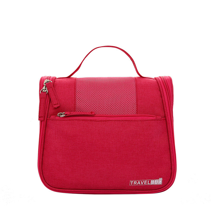Women Large Capacity Solid Color Travelling Use Water-proof COSMETIC Bag