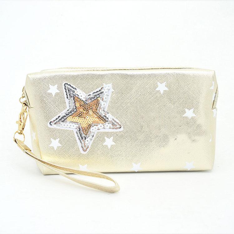Fashion Star Patchwork Classic Stripes Print Geometric COSMETIC Bag