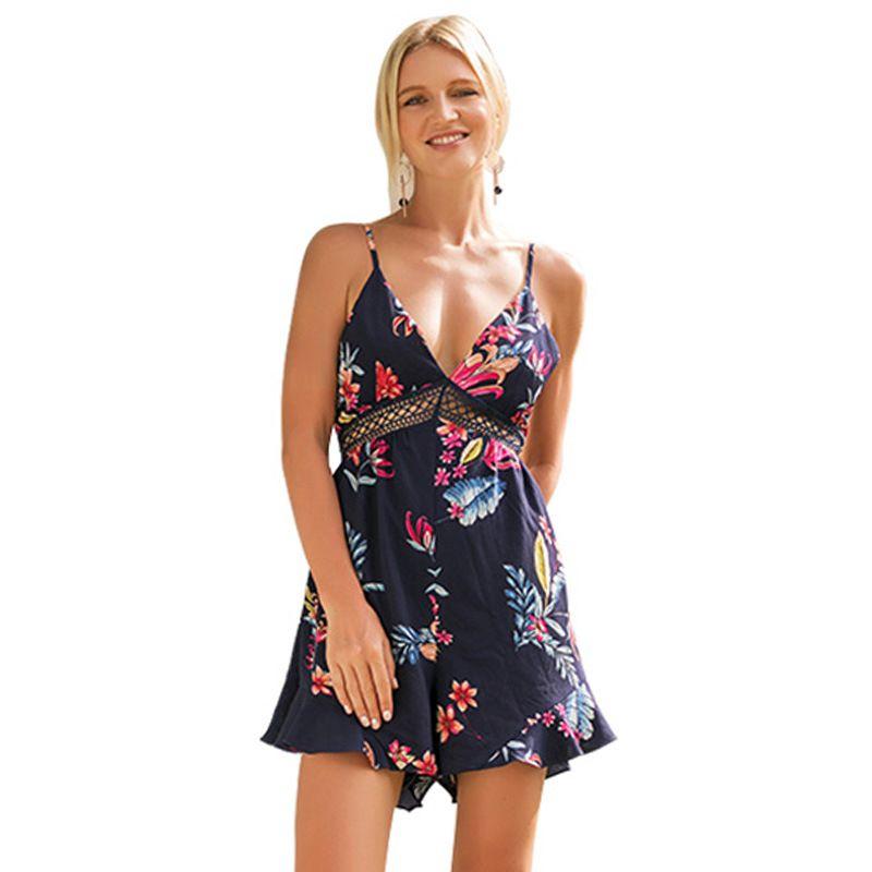 Women Bright Color Floral Printed Elegnt Defined Waist Half Sleeves DRESS