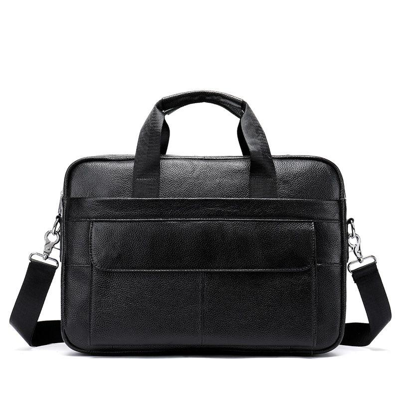 Hot Sale Top Grade Genuine Leather Men Business Briefcase