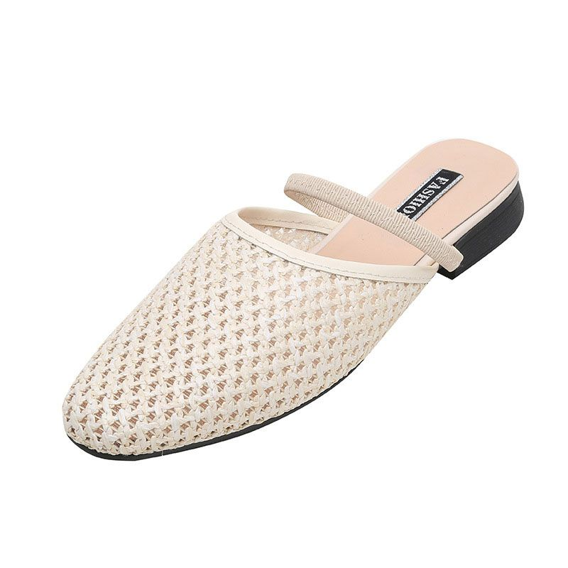 Size 4.5-9 Braided Fashion Hollow Design SLIPPERS Shoes