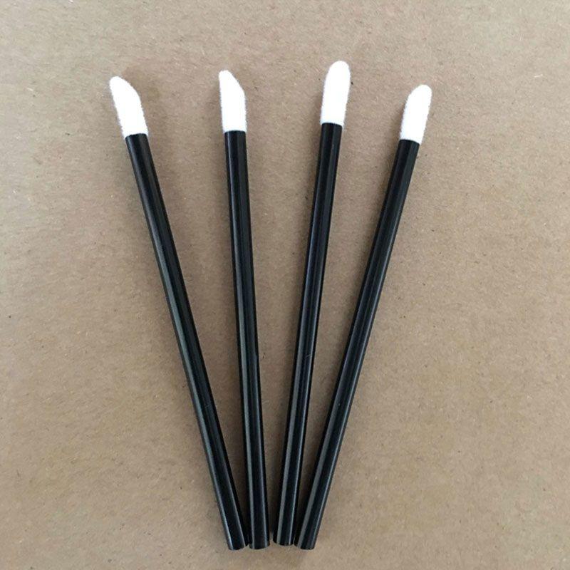 Wholesale Disposable 50pcs/pack Black Handle Makeup TOOLS Lipstick Brush