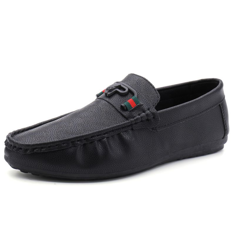 Men Fashion Comfortable PU Upper Round-toe Loafers SHOES