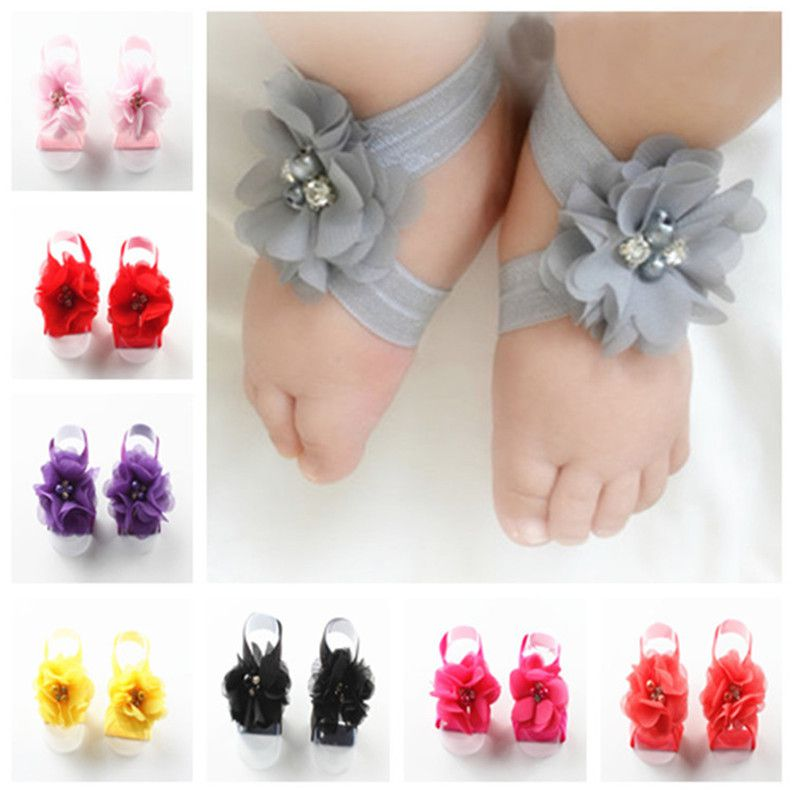Baby Girl Pretty Flower Design SHOES One Set