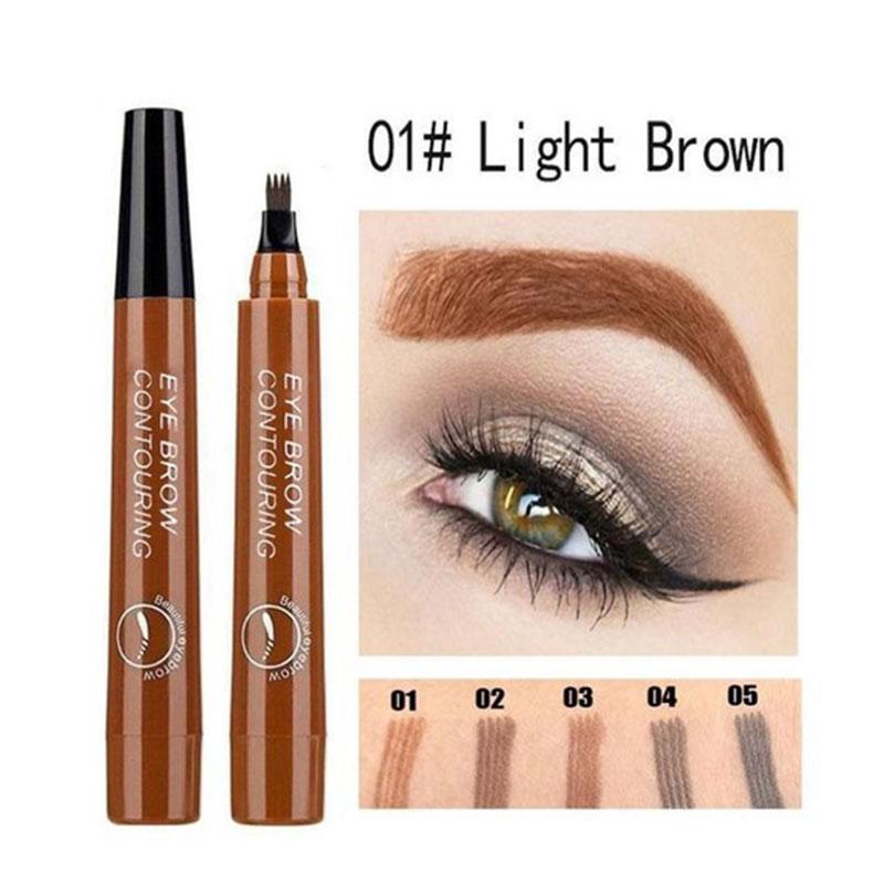 4 Tip Microblading Tattoo Eyebrow Pencil Brow Tattoo Pen PAINT Makeup Eyebrows