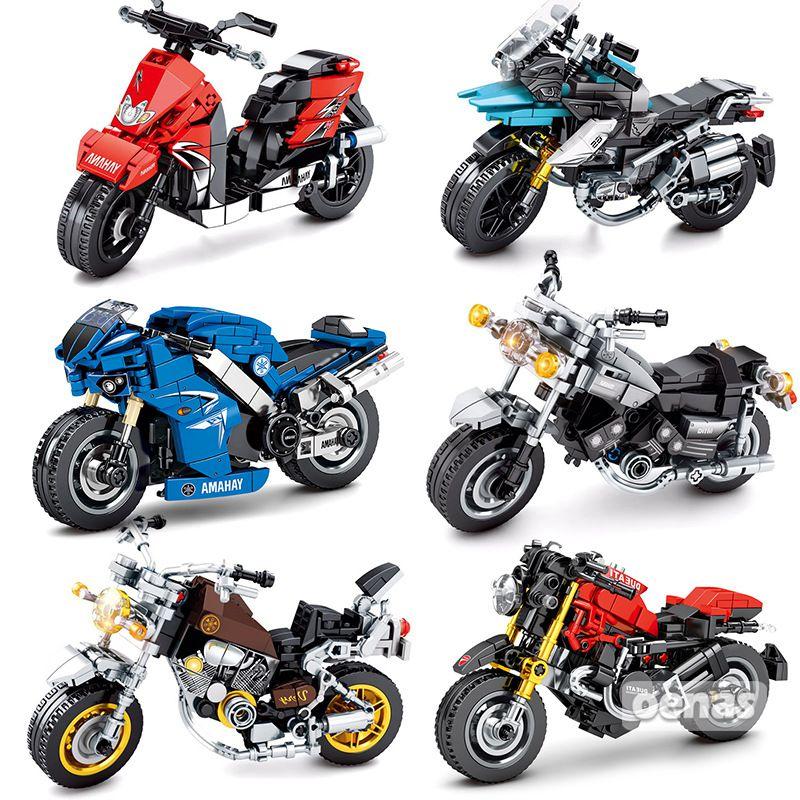 Boys Motorcycle Vehicle Building Blocks TOYS