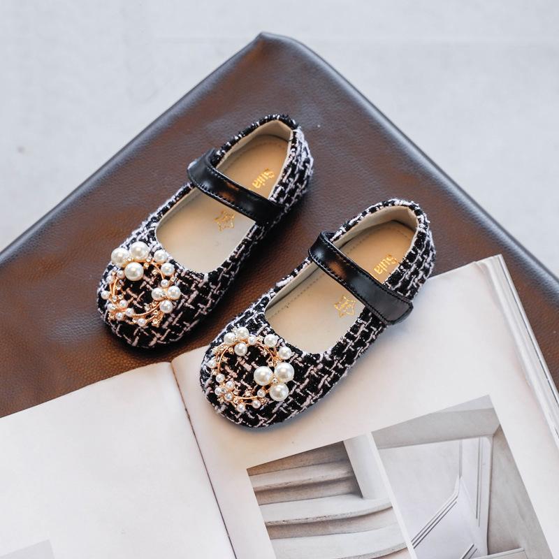 Girl Fashion Pearl Decor Flat SHOES
