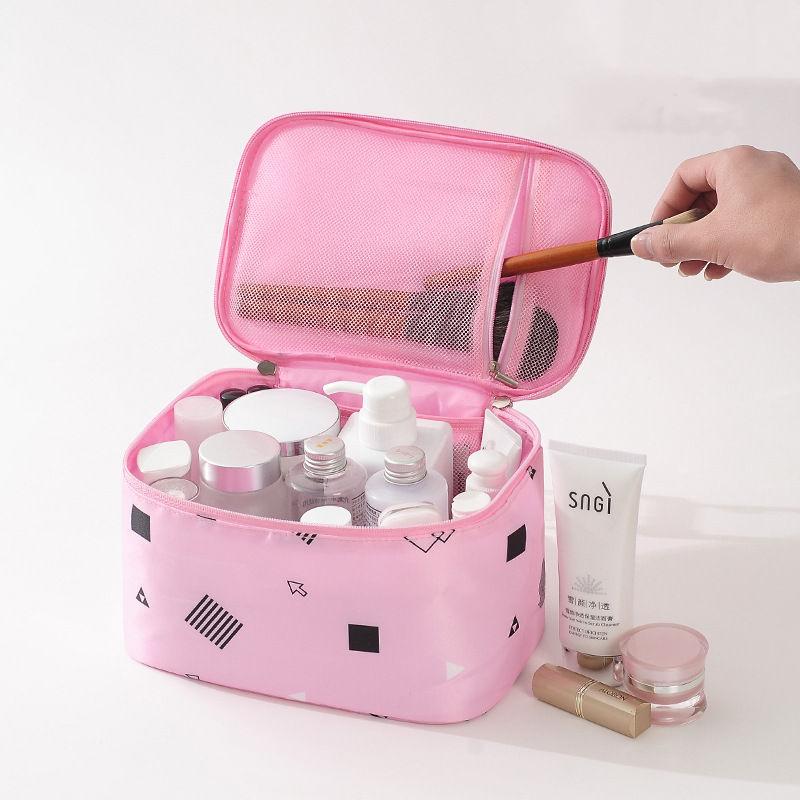 Woman Fashion Geometric Print Waterproof COSMETIC Bag
