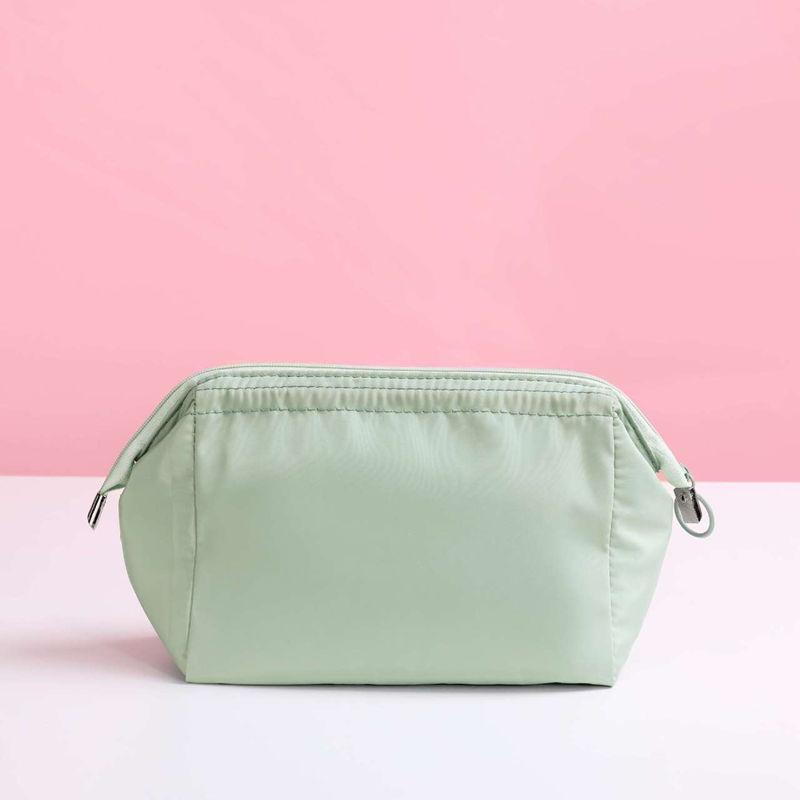 Woman Solid Color Multifuncation Zipper COSMETIC Bag
