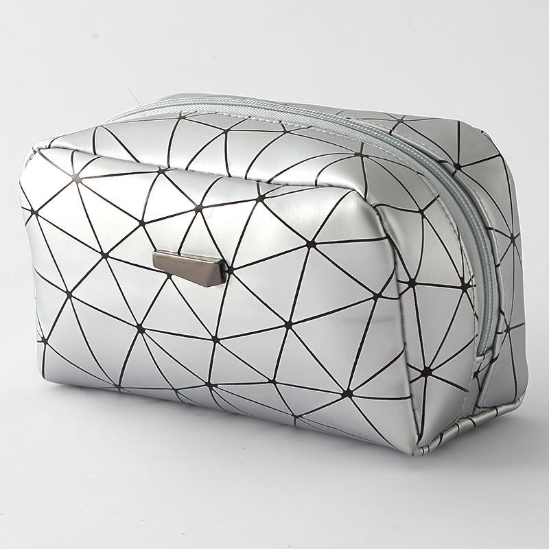 Woman Geometric Pattern Waterproof Travel COSMETIC Bag