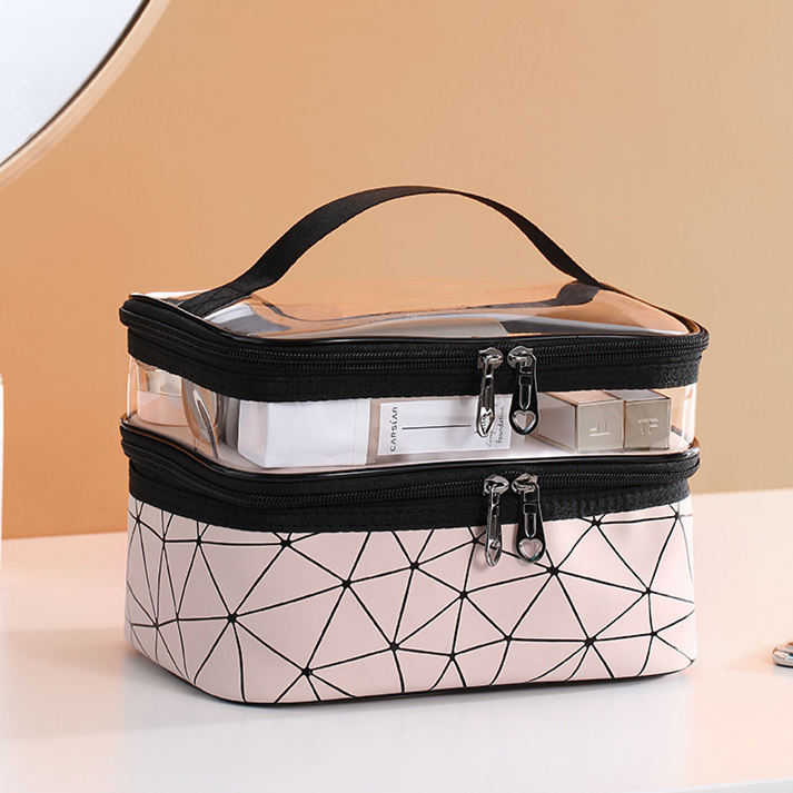 Women Fashion Double Layer Large Capacity COSMETIC Bag