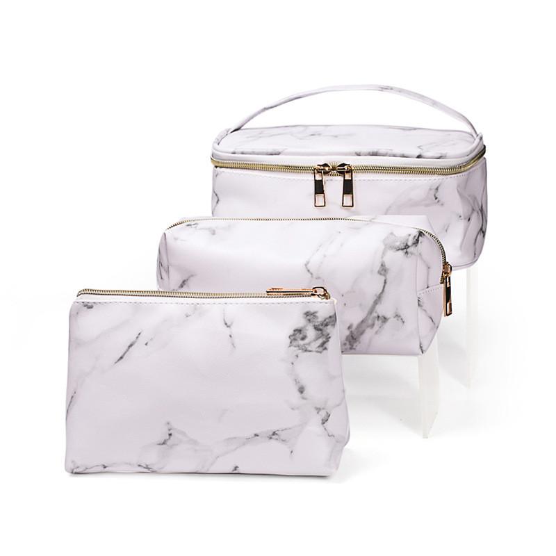 Women Fashion Printed Waterproof COSMETIC Bags Three Piece Set