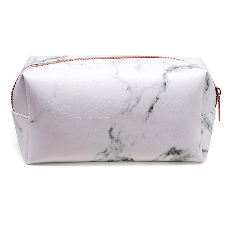 Women Fashion Marble Printed PU COSMETIC Bag