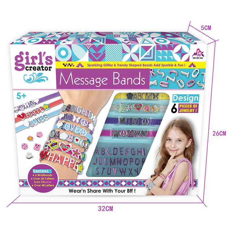 Kids Homemade Alphabet Bracelet DIY TOYS