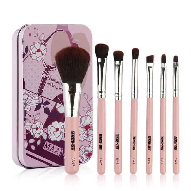 Makeup Brush Set 7pc/Set Mini Travel Brush COSMETICS Kit